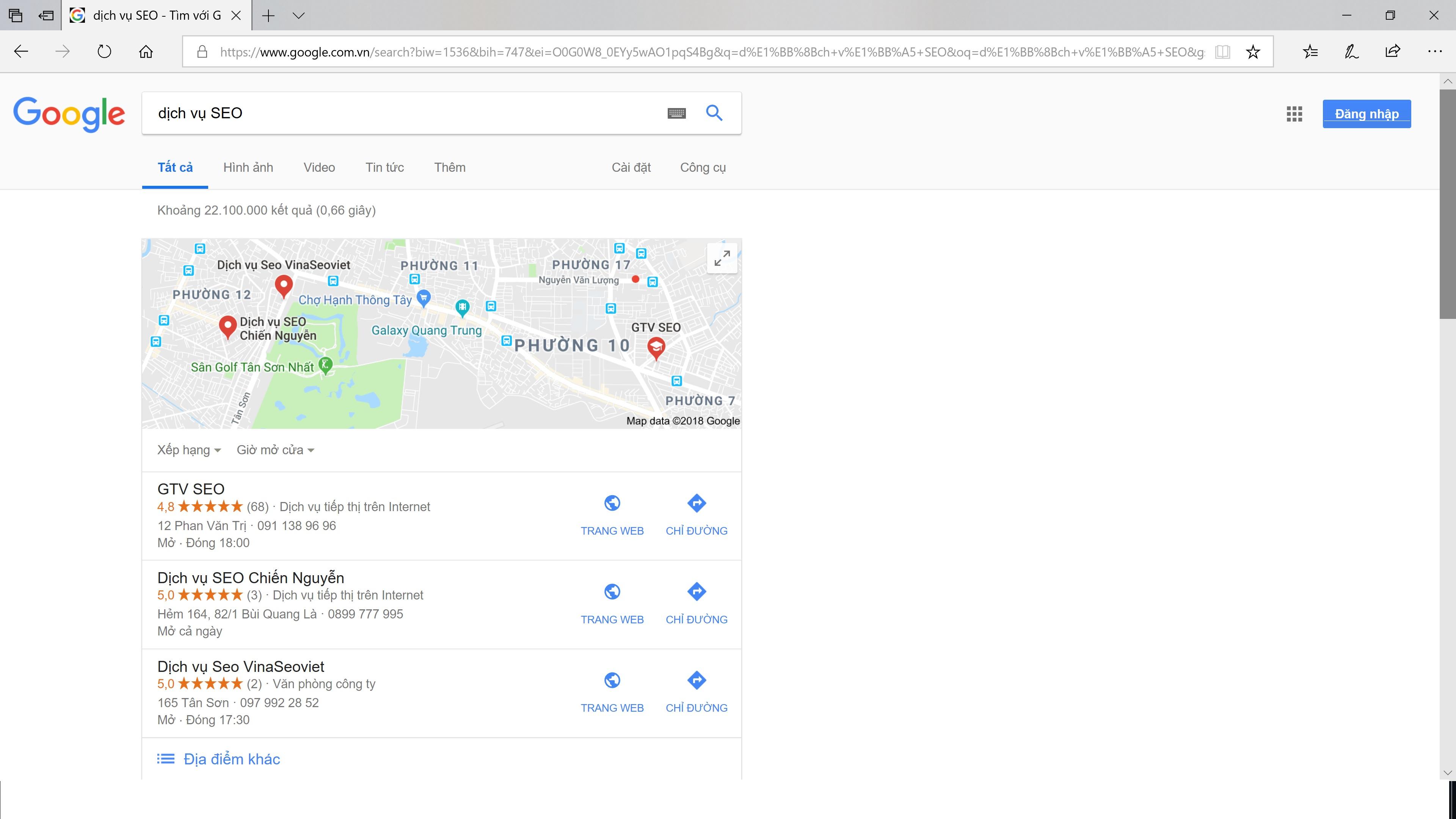 Maps Dịch Vụ SEO