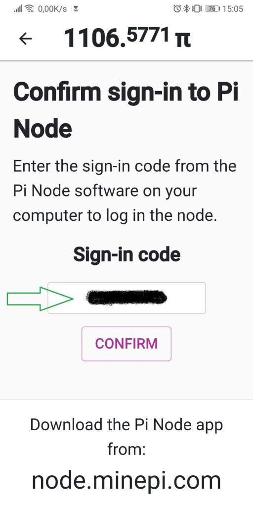 Nhập mã truy cập vào đây
